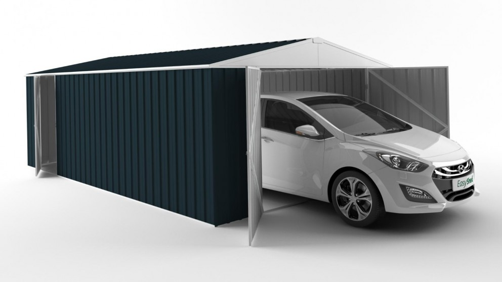 EasyShed 6038 Garage Shed - Mountain Blue