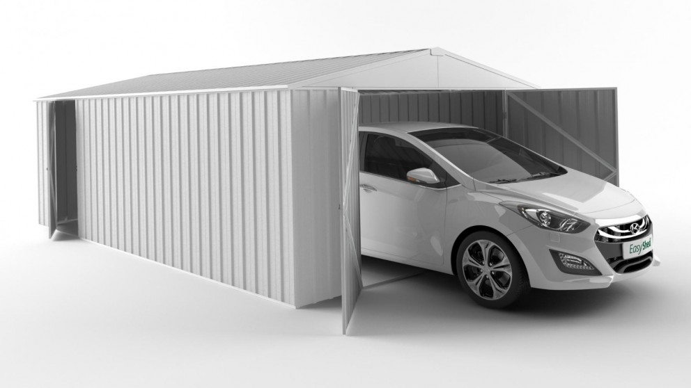 EasyShed 6038 Garage Shed - Off White