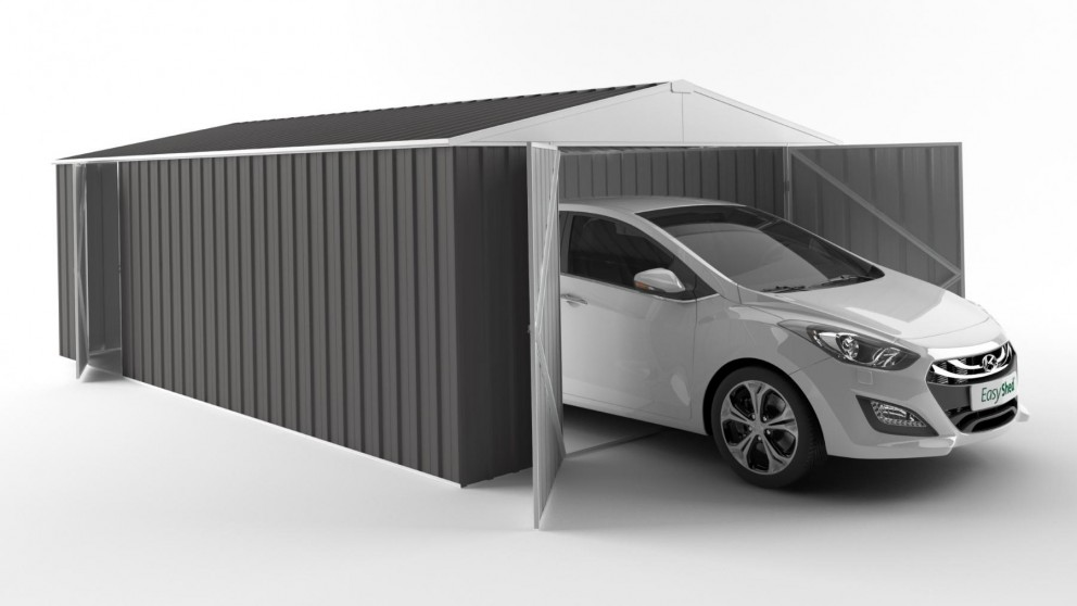EasyShed 6038 Garage Shed - Slate Grey
