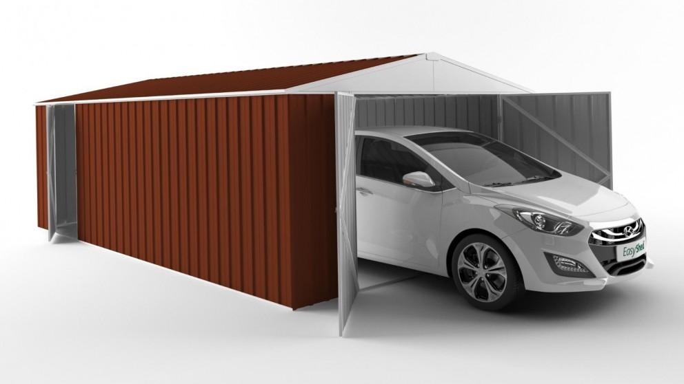 EasyShed 6038 Garage Shed - Tuscan Red