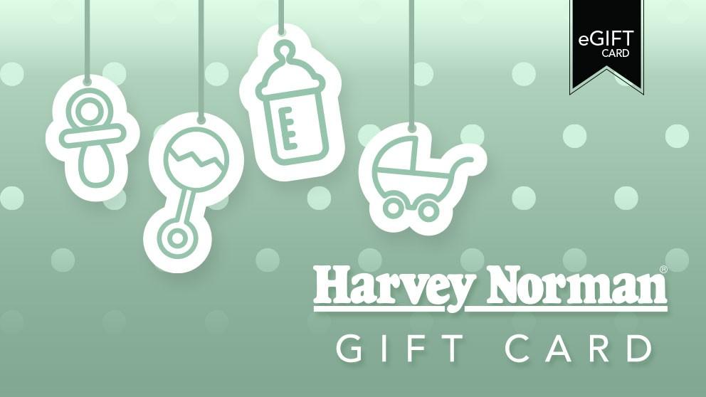 Harvey Norman $100 e-Gift Card - Baby Green