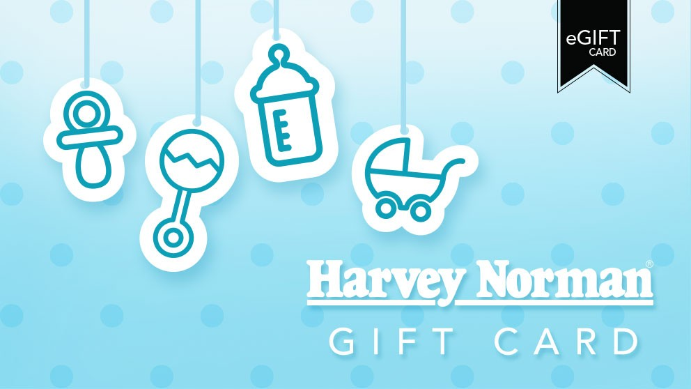 Harvey Norman $100 e-Gift Card - Baby Blue