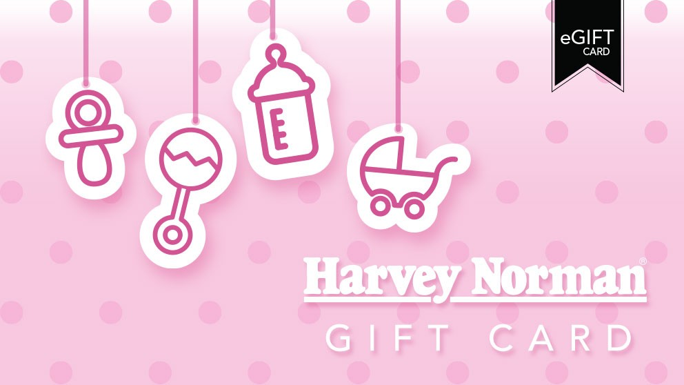 Harvey Norman $100 e-Gift Card - Baby Pink