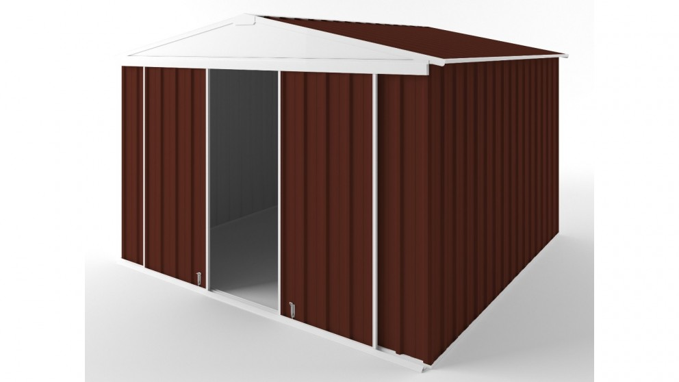 EasyShed D3030 Gable Slider Roof Garden Shed - Heritage Red