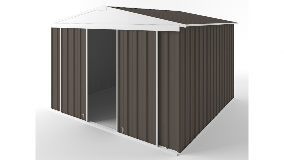 EasyShed D3030 Gable Slider Roof Garden Shed - Jasmine Brown