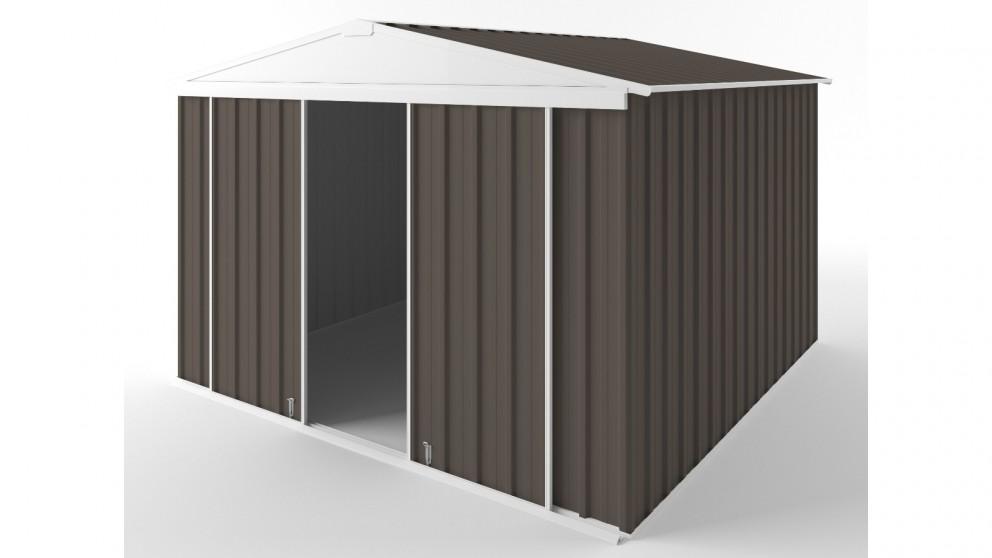 EasyShed D3030 Gable Slider Roof Garden Shed - Jasmine Brown