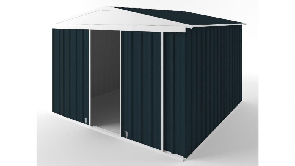 EasyShed D3030 Gable Slider Roof Garden Shed - Mountain Blue