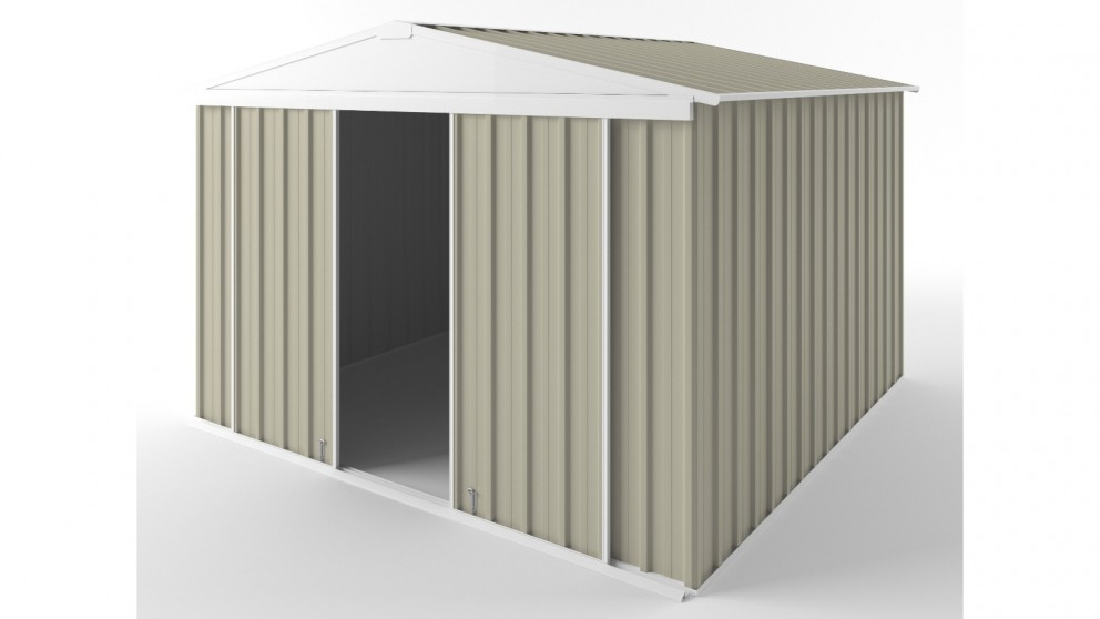 EasyShed D3030 Gable Slider Roof Garden Shed - Merino