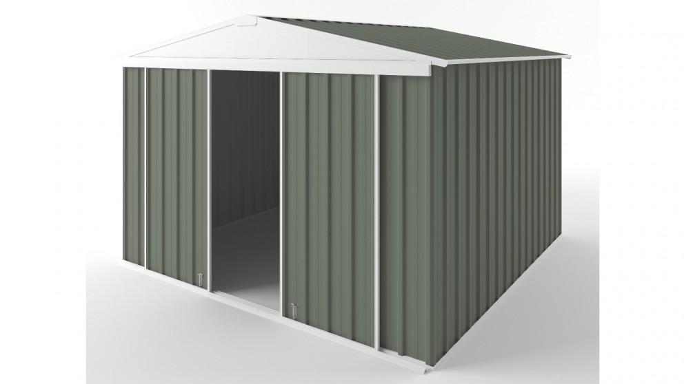 EasyShed D3030 Gable Slider Roof Garden Shed - Mist Green