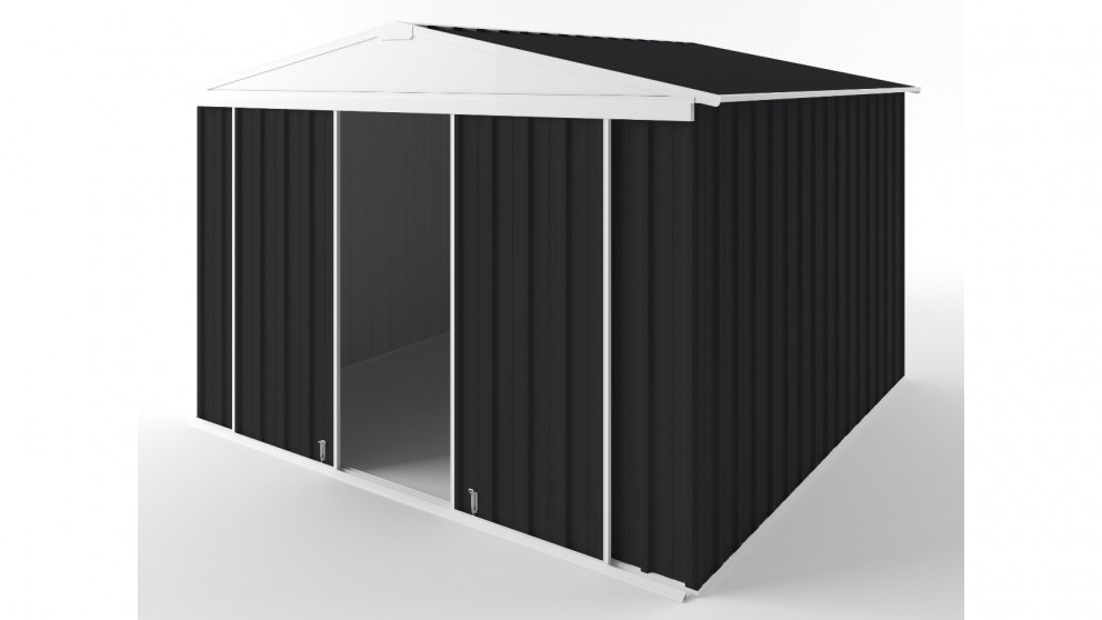EasyShed D3030 Gable Slider Roof Garden Shed - Monument