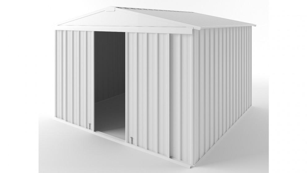EasyShed D3030 Gable Slider Roof Garden Shed - Off White