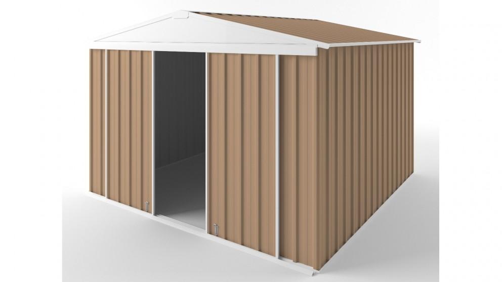 EasyShed D3030 Gable Slider Roof Garden Shed - Pale Terracotta