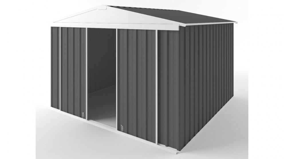 EasyShed D3030 Gable Slider Roof Garden Shed - Slate Grey
