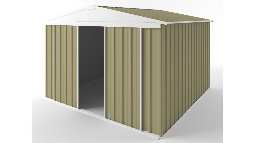 EasyShed D3030 Gable Slider Roof Garden Shed - Sandalwood