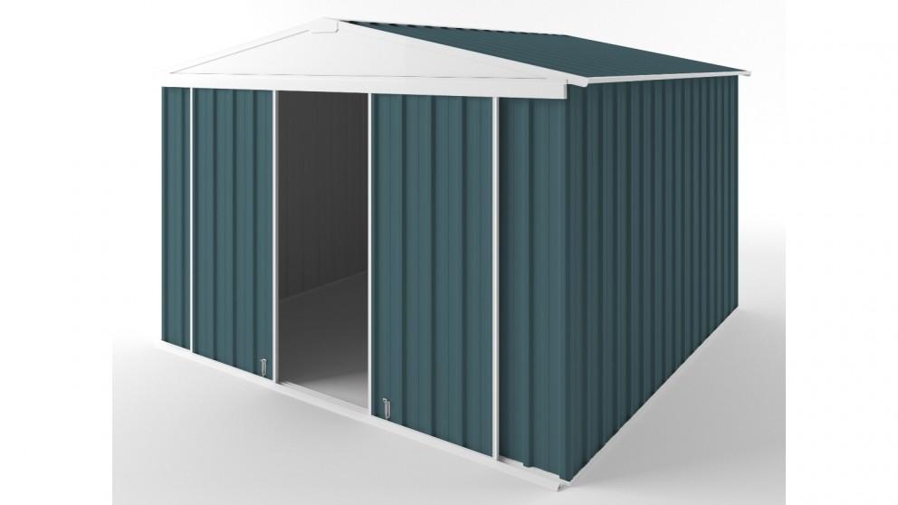 EasyShed D3030 Gable Slider Roof Garden Shed - Torres Blue
