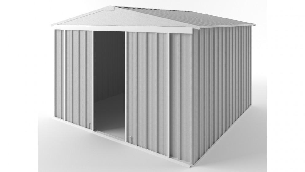 EasyShed D3030 Gable Slider Roof Garden Shed - Zincalume