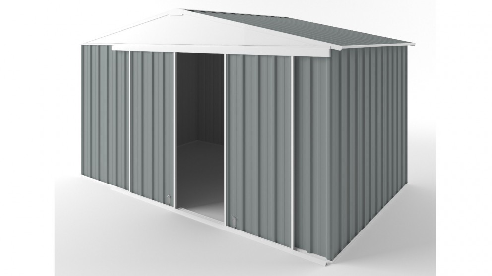 EasyShed D3823 Gable Slider Roof Garden Shed - Armour Grey