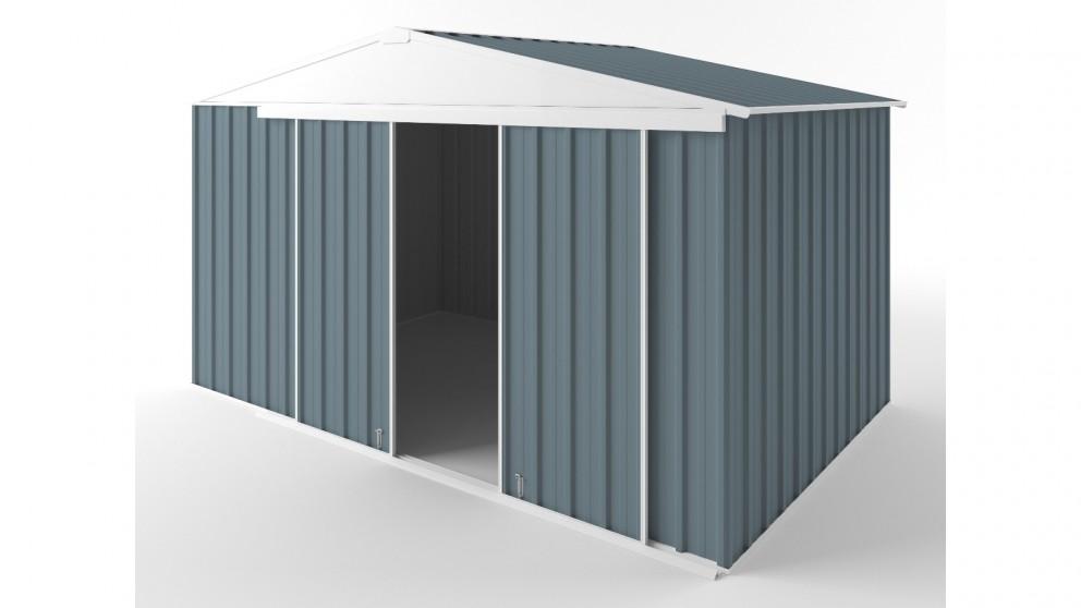 EasyShed D3823 Gable Slider Roof Garden Shed - Blue Horizon