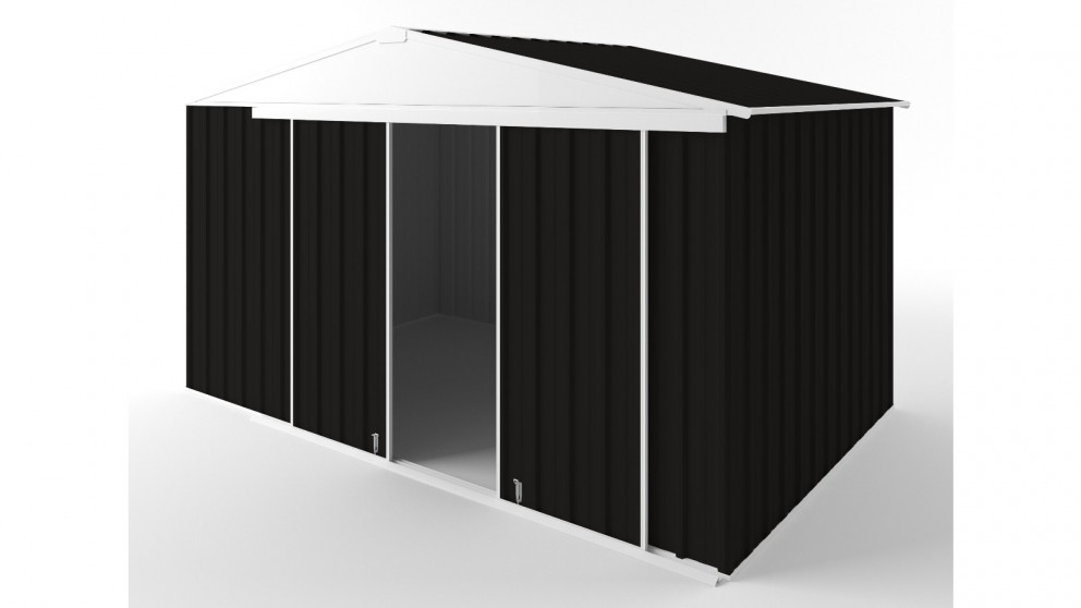 EasyShed D3823 Gable Slider Roof Garden Shed - Ebony