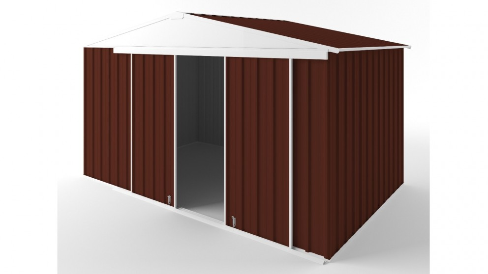 EasyShed D3823 Gable Slider Roof Garden Shed - Heritage Red