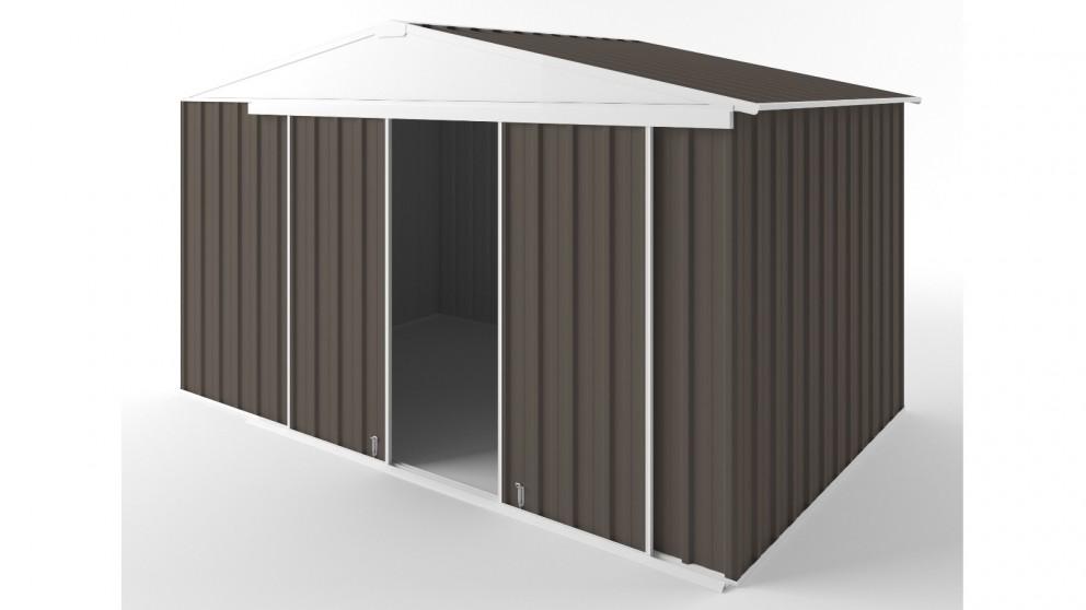 EasyShed D3823 Gable Slider Roof Garden Shed - Jasmine Brown