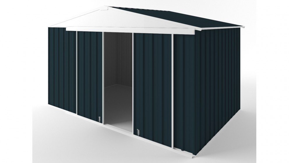 EasyShed D3823 Gable Slider Roof Garden Shed - Mountain Blue