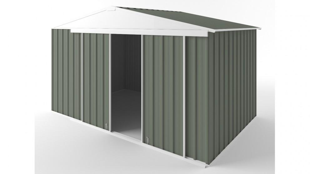 EasyShed D3823 Gable Slider Roof Garden Shed - Mist Green