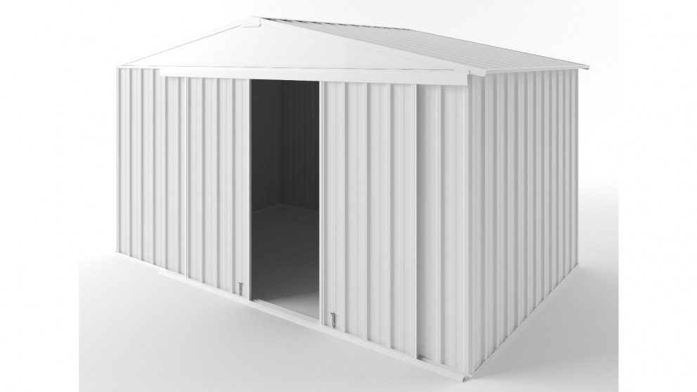 EasyShed D3823 Gable Slider Roof Garden Shed - Off White