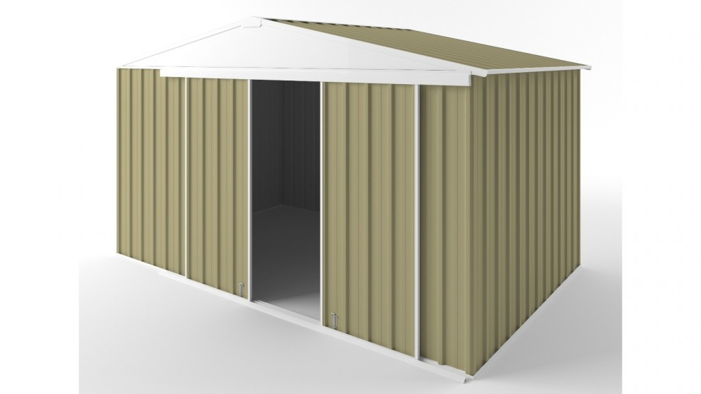 EasyShed D3823 Gable Slider Roof Garden Shed - Sandalwood