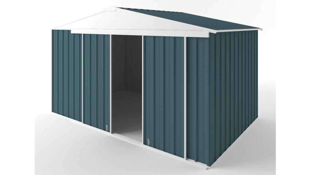 EasyShed D3823 Gable Slider Roof Garden Shed - Torres Blue