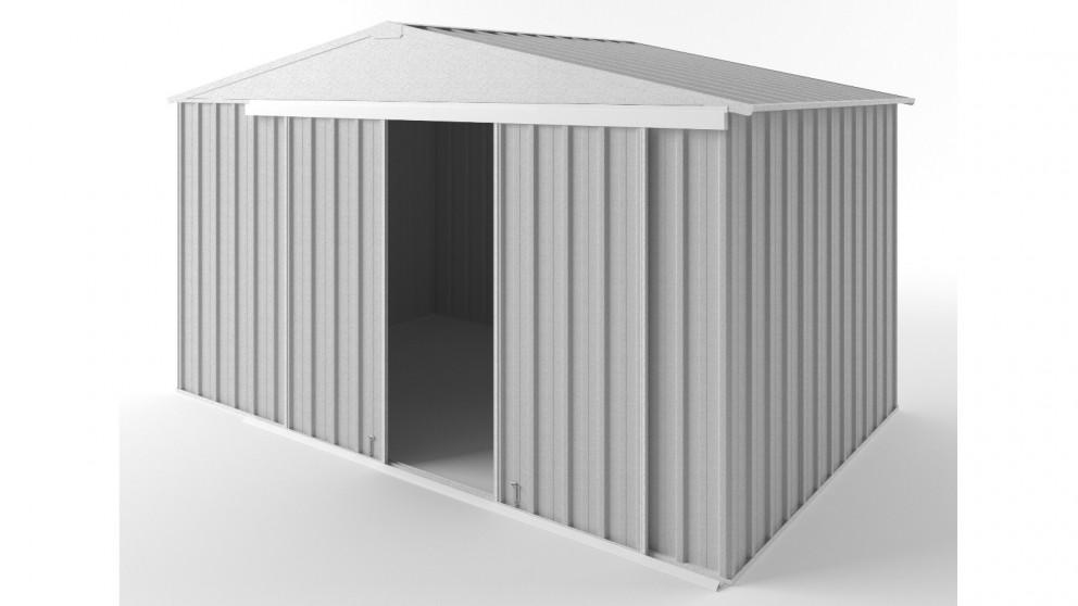 EasyShed D3823 Gable Slider Roof Garden Shed - Zincalume