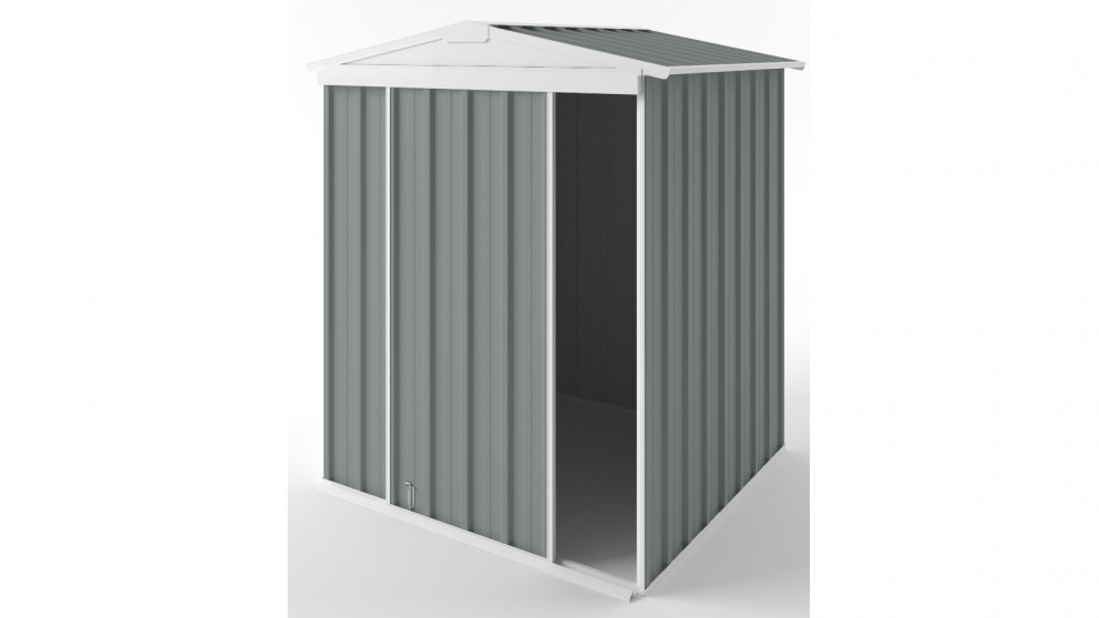 EasyShed S1515 Gable Slider Roof Garden Shed - Armour Grey