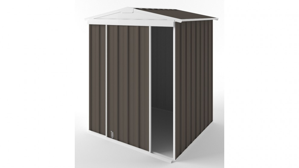 EasyShed S1515 Gable Slider Roof Garden Shed - Jasmine Brown