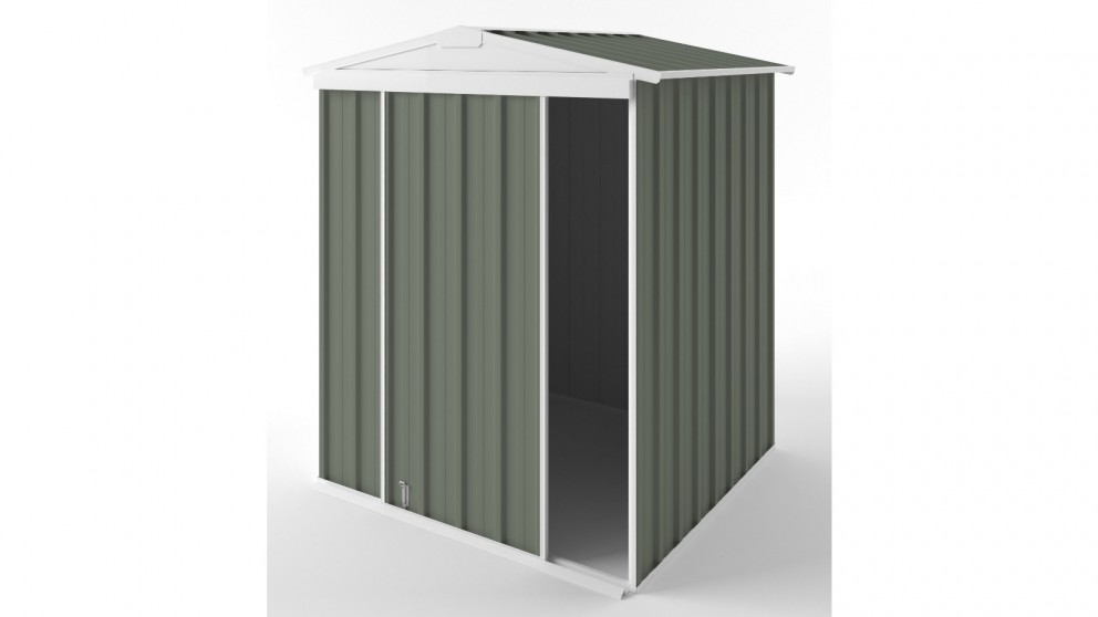 EasyShed S1515 Gable Slider Roof Garden Shed - Mist Green