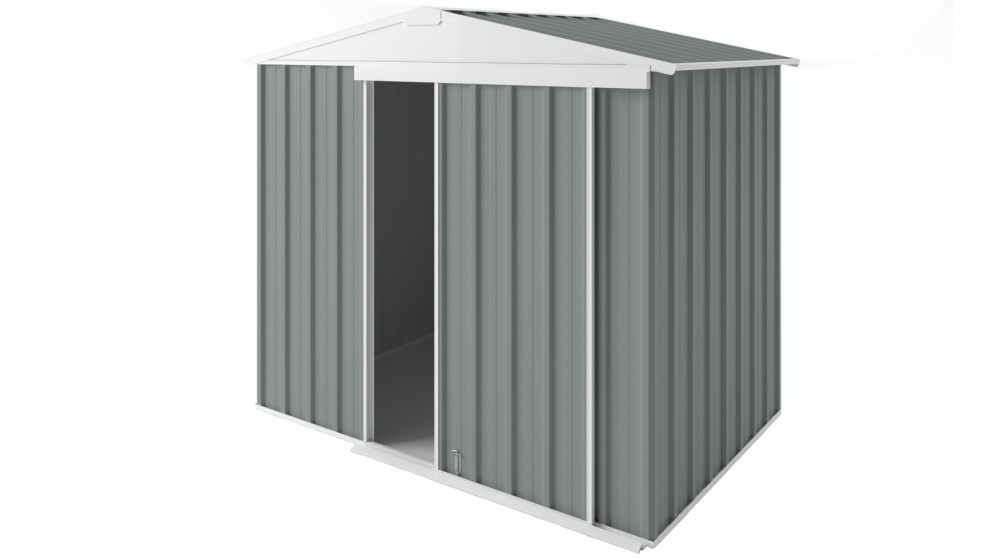 EasyShed Gable Slider Roof Garden Shed - Armour Grey