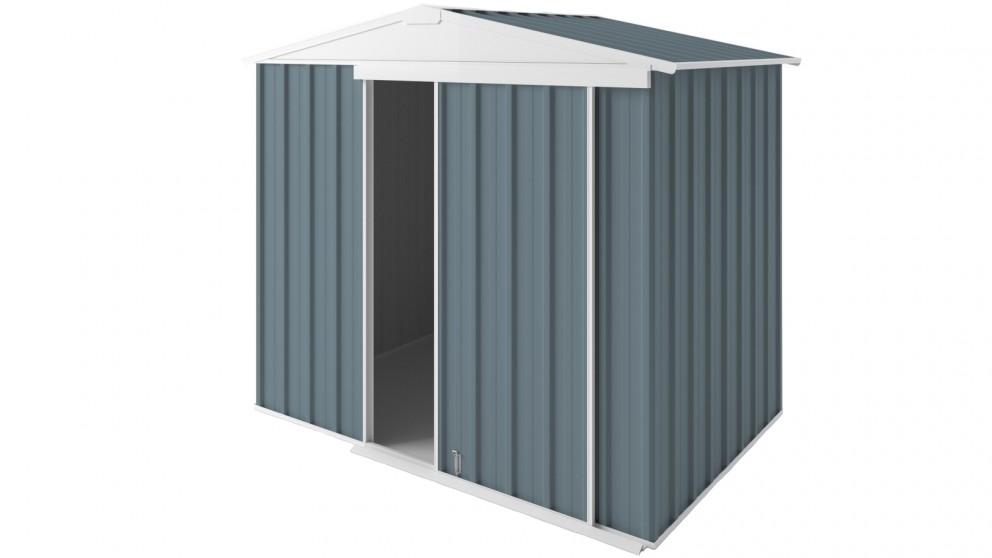 EasyShed Gable Slider Roof Garden Shed - Blue Horizon