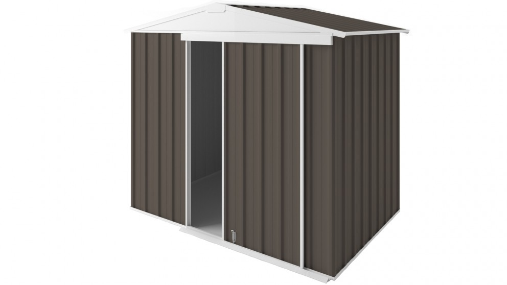 EasyShed Gable Slider Roof Garden Shed - Jasmin Brown
