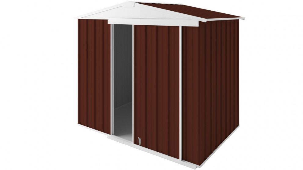 EasyShed Gable Slider Roof Garden Shed - Tuscan Red
