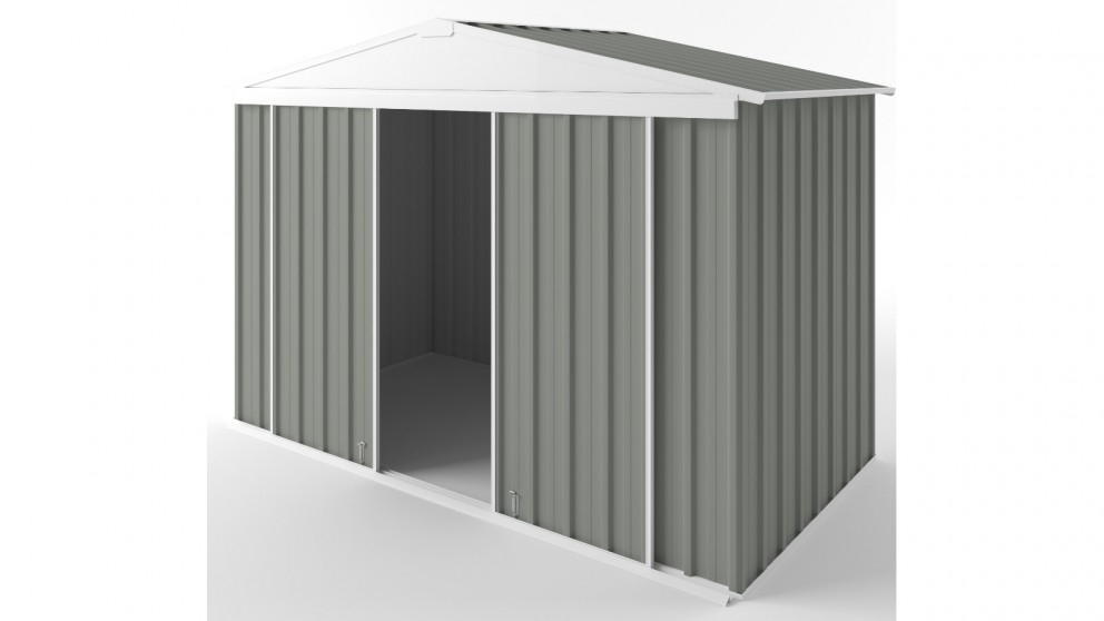 EasyShed D3015 Gable Slider Garden Shed - Bush Smoke