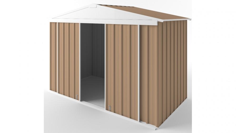 EasyShed D3015 Gable Slider Garden Shed - Pale Terracotta