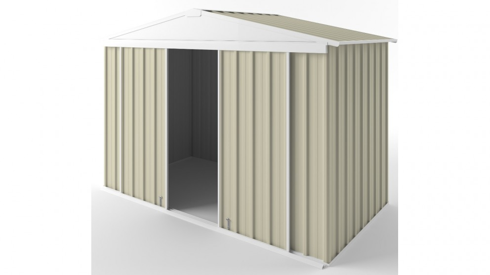 EasyShed D3015 Gable Slider Garden Shed - Smooth Cream