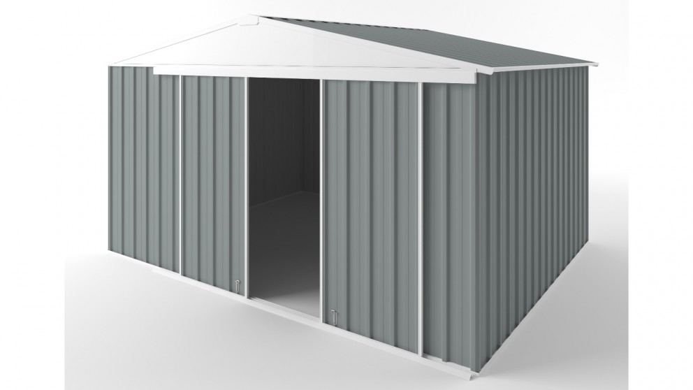 EasyShed D3830 Gable Slider Garden Shed - Armour Grey