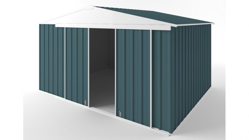 EasyShed D3830 Gable Slider Garden Shed - Torres Blue