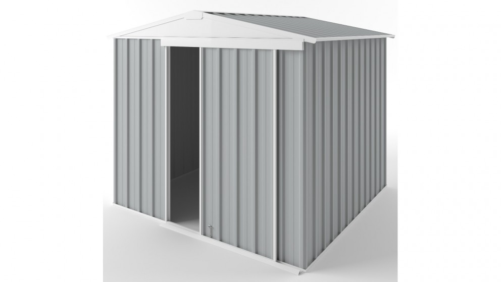 EasyShed S2323 Gable Slider Garden Shed - Gull Grey