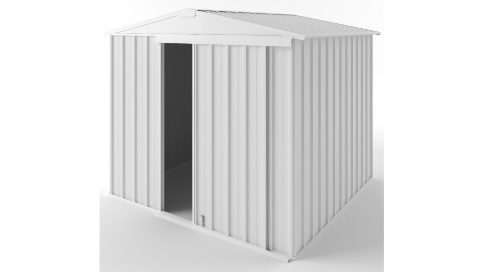 EasyShed S2323 Gable Slider Garden Shed - Off White