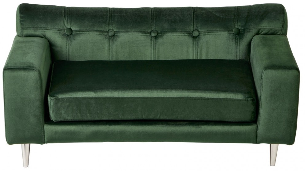Cooper & Co. Enchanted Home Pet Dog Cat Martine Sleeping Sofa Bed Furniture - Velvet Green