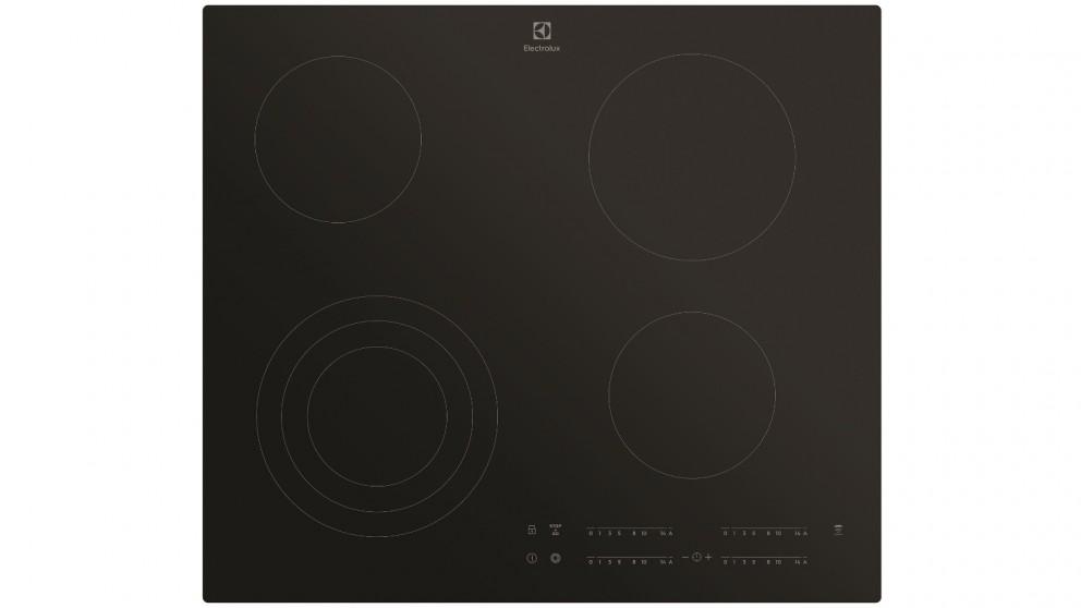 Electrolux 60cm 4 Zone Ceramic Cooktop - Black