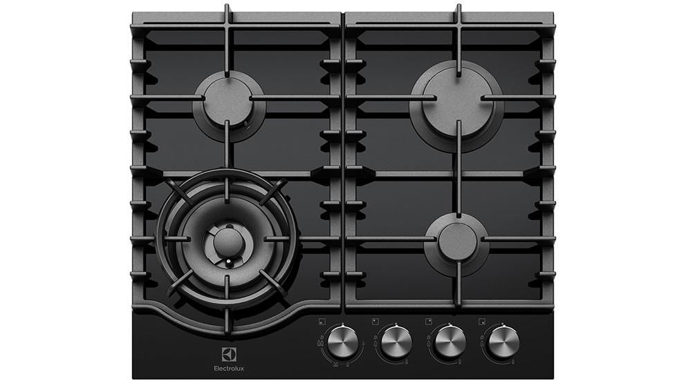 Electrolux 60cm Ceramic Gas Cooktop - Black