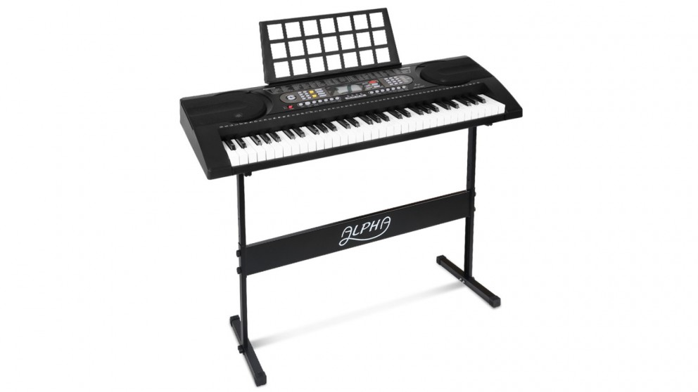 Alpha 61 Keys Electronic Piano Keyboard with Touch Sensitive