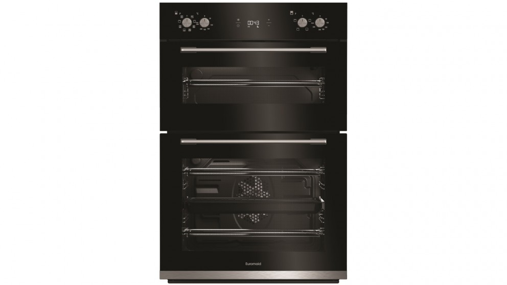 Euromaid Eclipse 600mm Multifunction Double Oven - Black